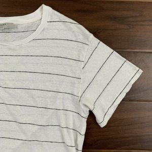 All Saints Tops - AllSaints White and Black Striped Oversize T Shirt